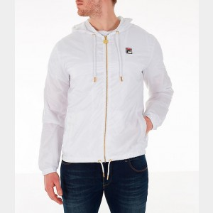 Men's Fila Copper Full-Zip Wind Jacket White Sales