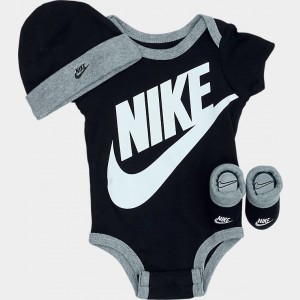 Infant Nike Futura 3-Piece Box Set Black/White Sales