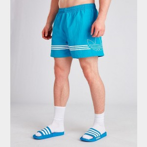 Men's adidas Originals Spirit Swim Shorts Cyan Sales