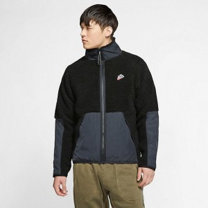 Men's Nike Sportswear Sherpa Winter Jacket Black/Off Noir Sales