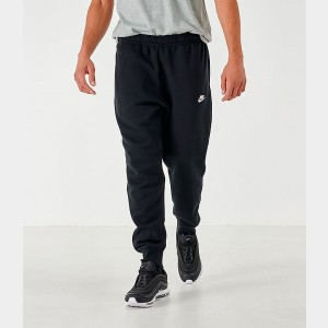 Men's Nike Sportswear Club Fleece Jogger Pants Black/Black/White Sales