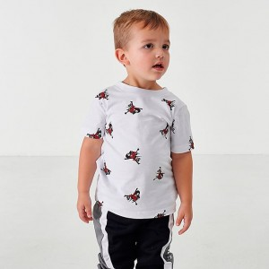 Boys' Toddler Jordan Mashup Jumpman Classics Allover Print Graphic T-Shirt White Sales
