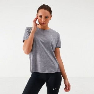 Women's Nike Miler Short-Sleeve Running Top Gunsmoke/Atmosphere Grey/Reflective Sales