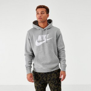 Men's Nike Sportswear Club Fleece Hoodie Dark Grey/Heather Sales