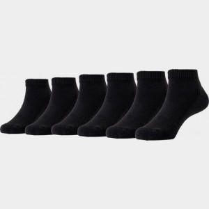 Kids' Toddler Finish Line 6-Pack Low Cut Socks Black Sales