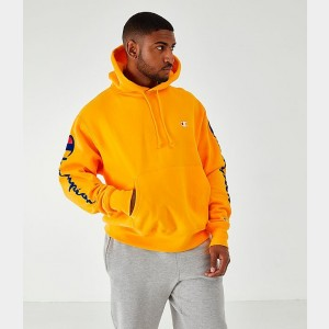 Men's Champion Arm Hit Hoodie Gold Sales