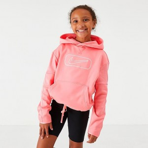 Girls' Nike Therma Shine Pullover Training Hoodie Pink Gaze Sales