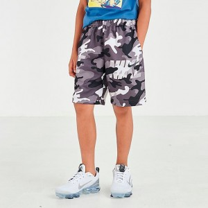 Boys' Nike Dri-FIT Camo Training Shorts White/Gunsmoke/Thunder Grey/Anthracite Sales