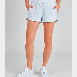 Women's Nike Sportswear Shorts Half Blue/Summit White Sales