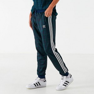 Men's adidas Originals Tartan Jogger Pants Collegiate Navy Sales