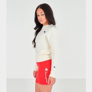Women's Champion Reverse Weave Crew Sweatshirt Chalk White Sales
