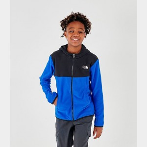 Boys' The North Face Glacier Full-Zip Hoodie Black/Blue Sales
