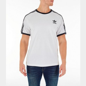 Men's adidas Originals adicolor 3-Stripe T-Shirt White Sales