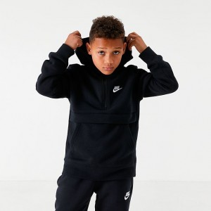 Boys' Nike Club Half-Zip Hoodie Black Sales