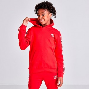 Boys' adidas Originals Icon Hoodie Scarlet/White Sales