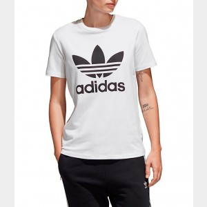 Women's adidas Originals Trefoil T-Shirt White Sales