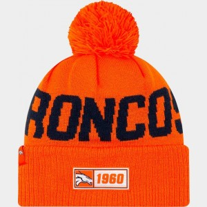 New Era Denver Broncos NFL Road Sideline Beanie Hat Team Colors Sales