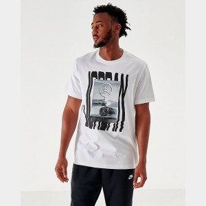 Men's Jordan Wavy Photo T-Shirt White Sales