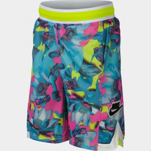 Boys' Nike Hoopfly Allover Print Basketball Shorts Laser Fuchsia/Cyber Sales