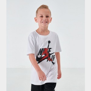 Boys' Jordan Mashup Jumpman Classics Graphic T-Shirt White Sales