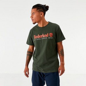 Men's Timberland Established T-Shirt Dark Green Sales