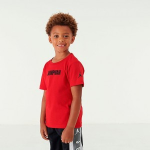 Little Kids' Air Jordan Jumpman Graphic T-Shirt Red/Black Sales