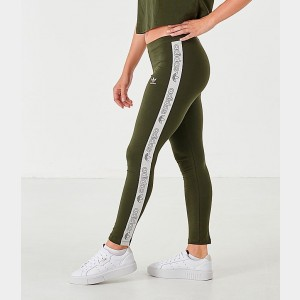 Women's adidas Originals Falcon High Waist Logo Tape Leggings Night Cargo/White Sales