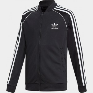 Kids' adidas Originals Trefoil Track Jacket Black/White Sales