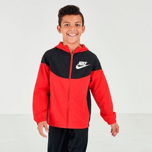 Boys' Nike Sportswear Woven Jacket University Red/Black/White Sales