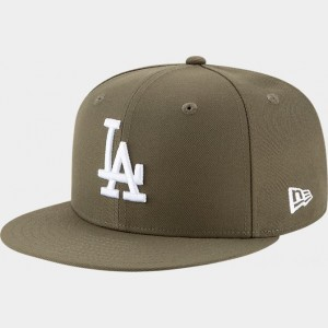 New Era Los Angeles Dodgers MLB 9FIFTY Snapback Hat Olive Sales
