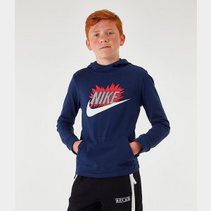 Boys' Nike Sportswear Exploded Hoodie Midnight Navy Sales