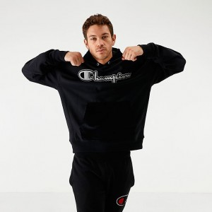 Men's Champion Reverse Weave Corduroy Hoodie Black Sales