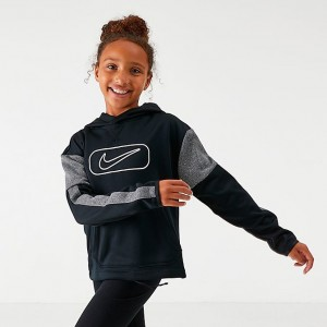 Girls' Nike Therma Shine Pullover Training Hoodie Black Sales
