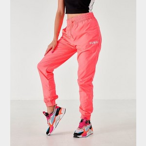 Women's Puma Chase Woven Jogger Pants Pink Alert Sales