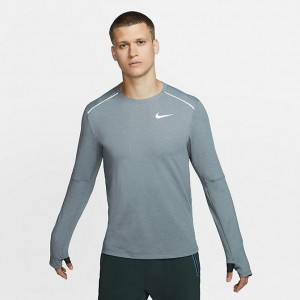 Men's Nike Element Crew 3.0 Running Top Dark Smoke Grey/Heather/Grey Fog Sales