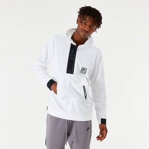 Men's Nike Sportswear Air Max Utility Half-Zip Hoodie White/Black Sales