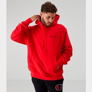 Men's Champion Reverse Weave Embroidered Logo Hoodie Red Sales