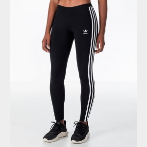 Women's adidas Originals Trefoil 3-Stripes Leggings Black/White Sales