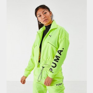 Women's Puma Chase Woven Jacket Yellow Alert Sales
