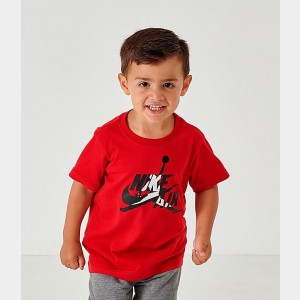Boys' Little Kids' Air Jordan Mashup T-Shirt Gym Red Sales