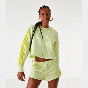 Women's adidas Cropped Hoodie Ice Yellow Sales