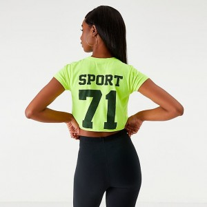 Women's Starter Crop T-Shirt Neon Green Sales