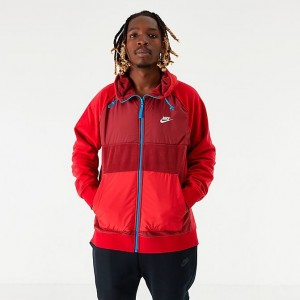 Men's Nike Sportswear Winterized Fleece Full-Zip Hoodie Team Red Sales