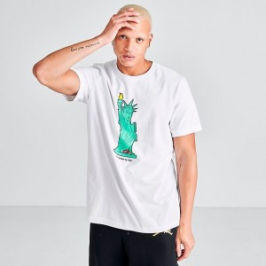 Men's Jordan Character City New York T-Shirt White Sales