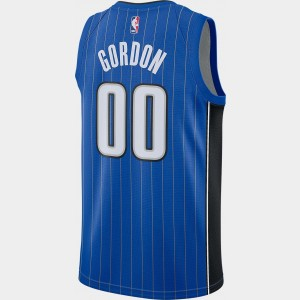 Men's Nike Orlando Magic NBA Aaron Gordon Icon Edition Connected Jersey Game Royal/Black/White Sales