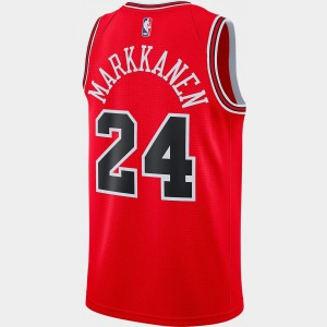 Men's Nike Chicago Bulls NBA Lauri Markkanen Icon Edition Connected Jersey University Red Sales