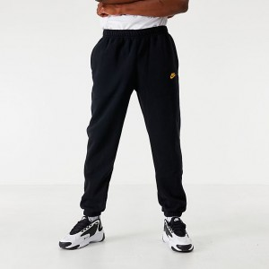 Men's Nike Sportswear Club Fleece Metallic Jogger Pants Black Sales