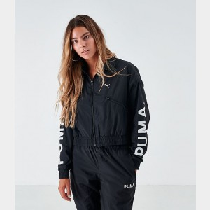 Women's Puma Chase Woven Jacket Black/White Sales