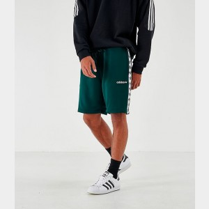 Men's adidas Originals Poly Tape Shorts Green Night Sales