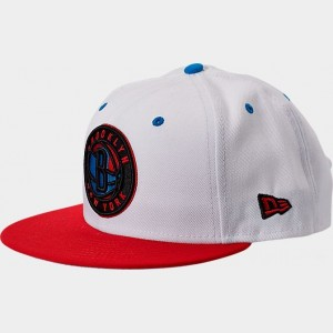 New Era Brooklyn Nets NBA Split Color 9FIFTY Snapback Hat White/Red/Blue Sales